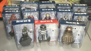 Doctor Who Eaglemoss Figurine Collection Lot Of 13 David Tennant 10th Set Dalek