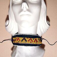 BellyDance ATS Costume Embroidered CHOKER Kuchi Tribal 798z5