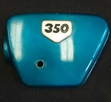 1970 Honda CB350K2 Left side cover Candy Blue-Green 17331-286-010AZ Emblem Air