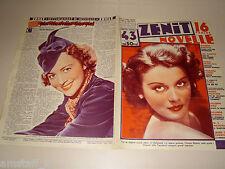 OLYMPE BRADNA=OLIVIA DE HAVILLAND=1937/43=Novelle Zenit=Cover magazine=ACTRESS=