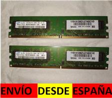 DDR2 SDRAM SAMSUNG 2X 1GB PC2-5300U 667 MHZ RAM CANAL DUAL KIT M378T2953EZ3-CE6