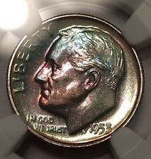 1953 Roosevelt Dime NGC PF 68 ~ Toned