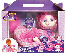 Kitty Surprise Stuffed Cat Sassy and Her Kittens Brand New