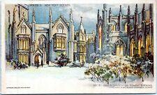 1903 No. 6 Grace Church on Sunday Evening Newspaper Promo NYC Postcard