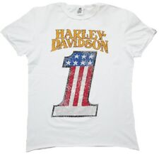 H D CLASSIC Authentic HARLEY DAVIDSON Strass USA 1 Number One Biker T-Shirt M
