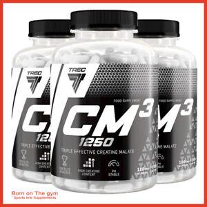 TREC NUTRITION CM3 1250 TCM Tri Creatine Malate Muscle Strength Energy Caps NEW