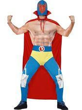 90s Wrestling Wrestler Mens Mexican Fancy Dress Costume Size M L Large