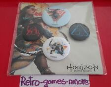 Horizon Zero Dawn Playstation 4, PS4,  Promo Pin Set, Not For Sale Authentic New