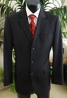 Hugo Boss Suit 40R Dual Vents Classt Black Stripe