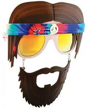 Hippie Glasses Sunglasses Mask Gag Gift Funny Halloween Psychedelic SunStaches