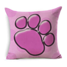 Dog Paw Print Pillow Cover Bedroom Home Decor Cushion Cover 17X17IN