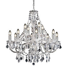 Endon Clarence chandelier 12x 60W Clear acrylic & chrome effect plate