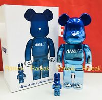 Medicom Bearbrick ANA Chrome Gradation 400% & 100% R@bbrick Be@rbrick Boxset 2pc