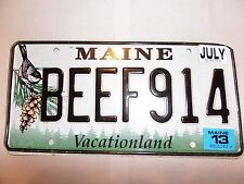 BEEF 914 MAINE LICENSE PLATE WAS $40