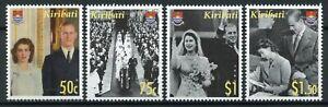 Kiribati Stamps 2007 MNH Diamond Wedding Queen Elizabeth II Prince Philip 4v Set