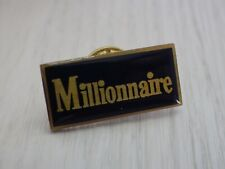 Pin's Vintage Lapel Pin Collector Adv Millionaire Games Lot Z074