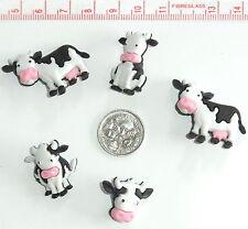 Novelty Button Embellishments Black & White Farm Cows Animals #114