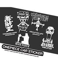 Anime ONE PIECE Car Stickers Vinyl Reflective Decal Window Door Cartoon Styling