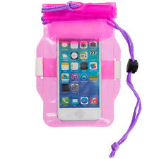 Pink Purple Waterproof Pouch Dry Bag Case Cover For iPhone 5 5S 5C 4S 4 3GS iPod