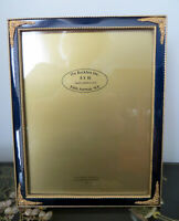 Vintage The Bucklers Inc 8 x 10  Picture Frame Blue Enamel /Gold 5th Avenue NY