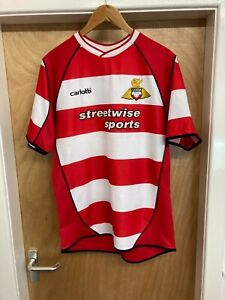 DONCASTER ROVERS HOME FOOTBALL SHIRT SOCCER JERSEY SIZE: LARGE