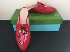 NIB $258 KATE SPADE Mules CANYON Sz 9 M RED LEATHER Shoes New ~ 69% OFF!