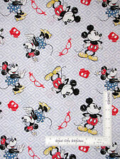 Disney Mickey Fabric - Mickey Mouse Minnie Mouse Toss CP58332 Gray White  - Yard