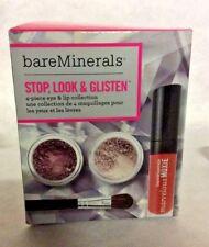 Bare Minerals Stop, Look & Glisten 4 Piece Eye & Lip Collection In Box SET
