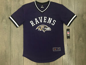 Baltimore Ravens NFL Boys Stitch Jersey Shirt Youth XL (18-20) Purple NWT $50.00