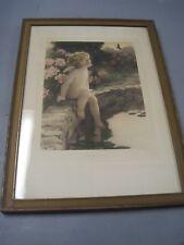 Vintage Bessie Peage Gutmann Original Framed Art Print # 632 The Butterfly 1920