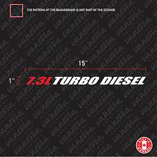 2x 7.3L TURBO DIESEL F250 F350 sticker vinyl car hood decal red-white