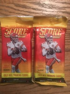 2021 PANINI SCORE NFL FOOTBALL CELLO FAT PACK Lot Of 2 Packs 40 Cards Each