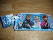 """NEW Disney Frozen 48 pc puzzle inside pencil pouch school 9"""" x 10"""""""