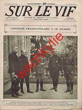 Sur le vif n°103  du 28/10/1916 roi George d'Angleterre en France Lloyd George