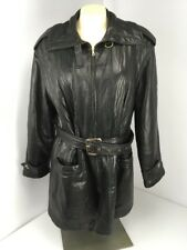 VERA PELLE Gallotti Super Soft Genuine Leather Belted Italy Womens 10 Jacket