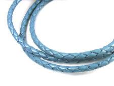Lederband, 1 m, 3 mm, jeansblau