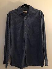 Arrow Button Up Dress Shirt Adult Medium Blue Long Sleeve Casual Collar Mens