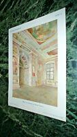 Kunstdruck Malerei des Festsaales der Burg Trausnitz 1901
