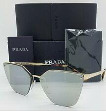 New Prada sunglasses Cinema PR68TS ZVN121 63 Gold SIlver Mirror PR 68 AUTHENTIC