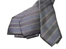 Cravatta uomo a righe grigie azzurre seta multirigata grigi azzurri anche slim
