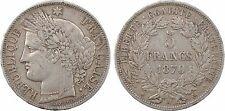 5 francs Cérès avec légende, Gouvernement Défense Nationale, 1870 Paris - 94