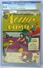 ACTION COMICS #71 CGC 6.5 SUPERMAN 1944 Rare Valentine story