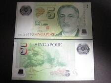 Singapore P-New 2011? Polymer 5 Dollar (Gem UNC)