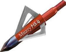 3PK MUZZY MX-4  fixed blade broad heads 4 blade 100 grain 1 1/8 cut broadheads