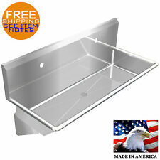 Industrial 2 Users Multistation Wash Up Hand Sink 48 Stainless Steel Heavy Duty