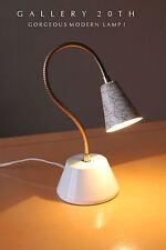RARE! MID CENTURY MODERN ATOMIC TRANSFORMER LAMP! 50's Vtg Eames White Light 60s