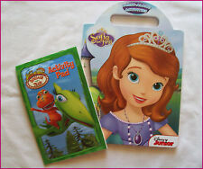 SOFIA THE FIRST & DINOSAUR TRAIN - 2 x ACTIVITY & COLOUR IN BOOK Colouring NEW