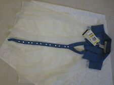 American Rag Chiffon Button down see through Top Size M Blue White