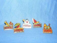 Metal Pin Badge Button Enamel 3 Suisses French Advertising Badge x 5 job Lot