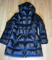 New Andrew Marc knee length down women's puffer jacket hooded coat Sz L NWOT